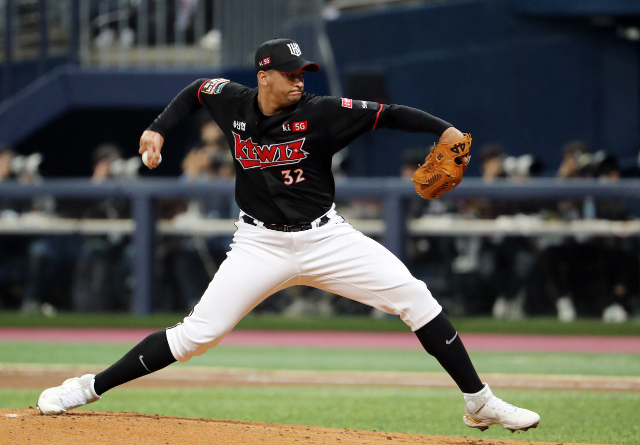 KT Wiz starter William Cuevas (Yonhap)