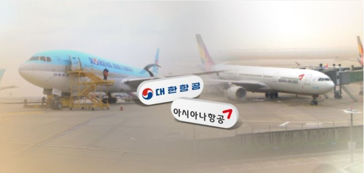Korean Air and Asiana Airlines' planes in local airports. (Yonhap)