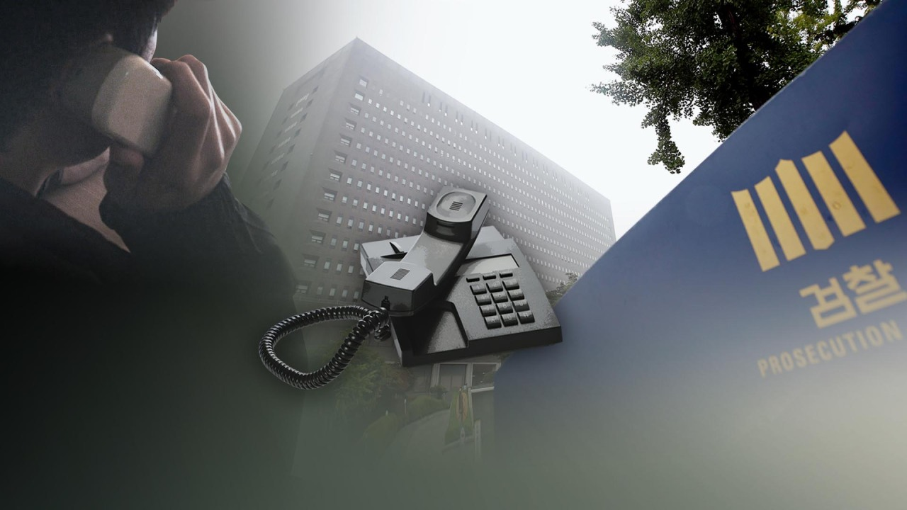 This illustrated image depicts voice phishing. (Yonhap)