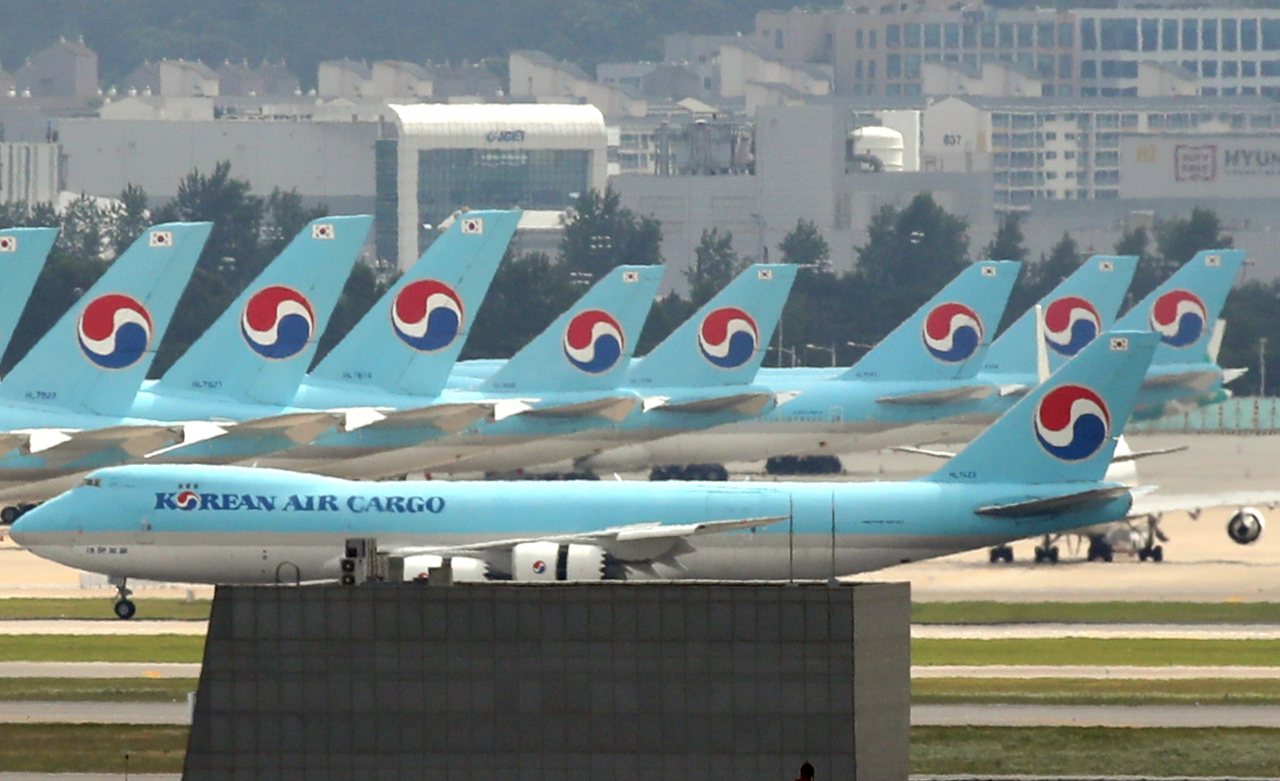 Aircrafts of South Korea's flagship carrier Korean Air (Yonhap)