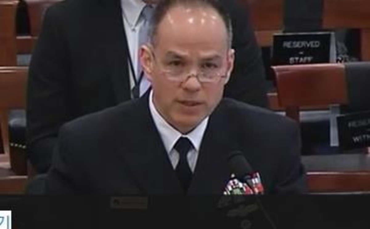 The undated image, captured from the website of the US House Armed Services Committee, shows Vice Adm. Jon Hill, director of the US Missile Defense Agency. (Screenshot captured from the US House Armed Services Committee website)