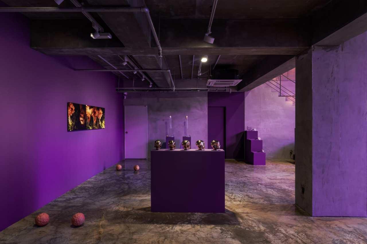 "Works on display at the ""Yangachi: Galaxy Express"" exhibition (Barakat Contemporary)"