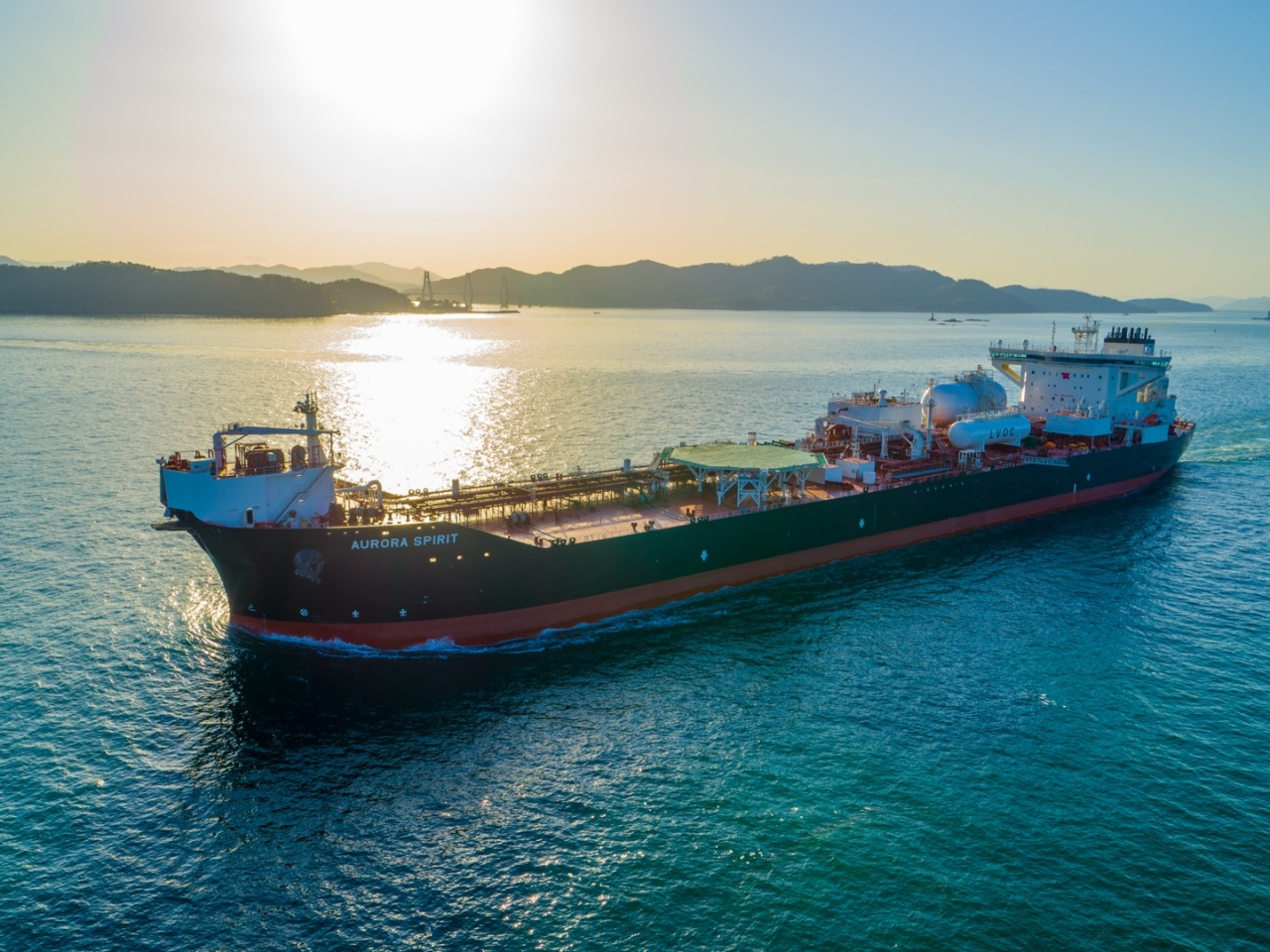 This photo provided by Samsung Heavy Industries Co. shows a shuttle tanker built by the shipbuilder. (Samsung Heavy Industries Co.)