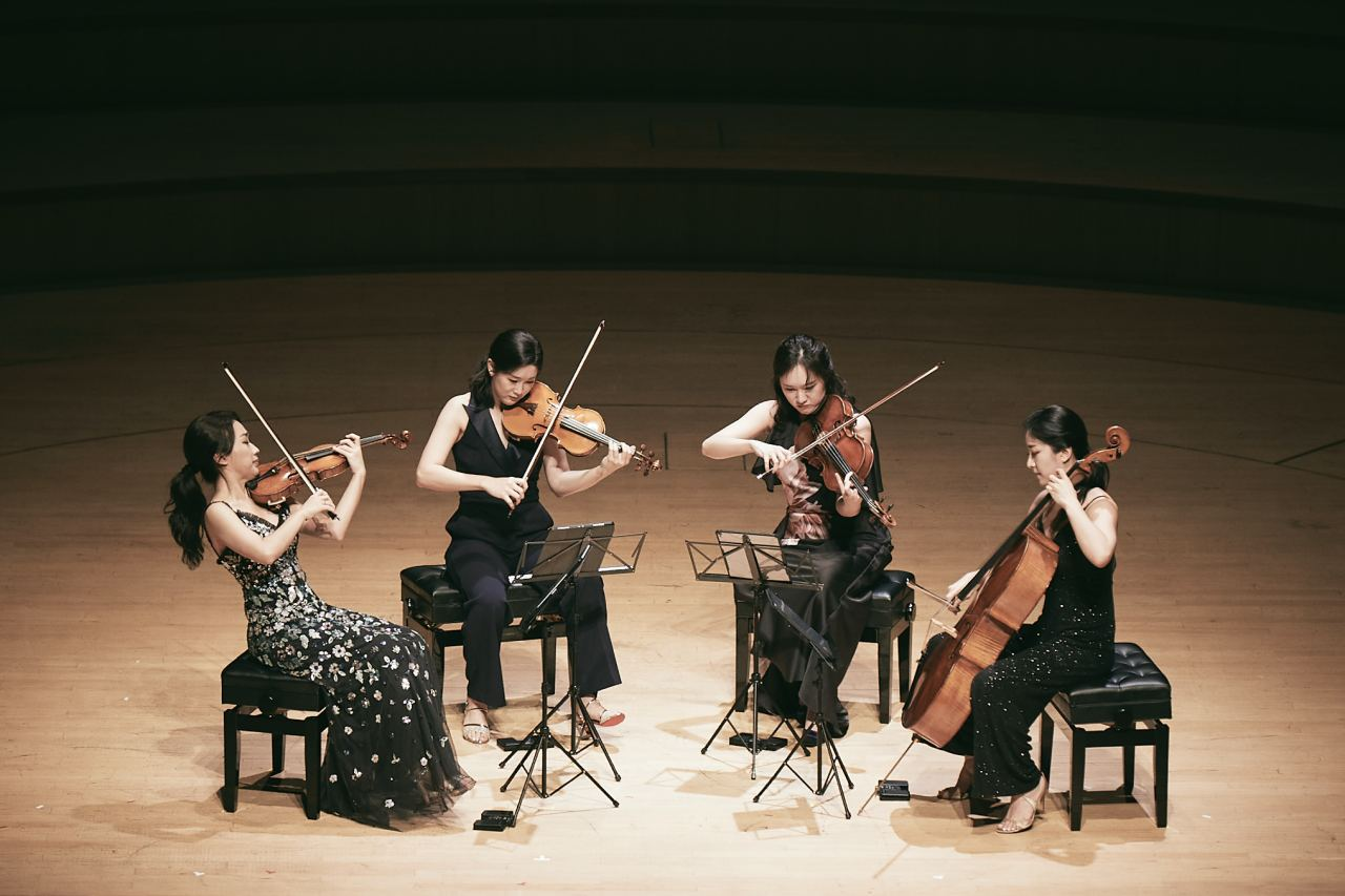 The Esme Quartet performs at the Lotte Concert Hall in August. (Lotte Foundation for Arts)