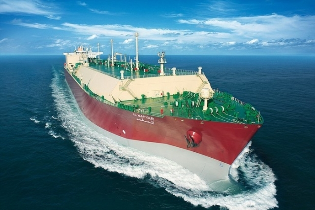 An LNG carrier that Samsung Heavy Industries delivered to Qatar's shipping company in 2010 (SHI)