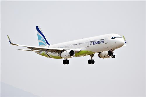 A321-200 flying in the sky. (Air Busan)
