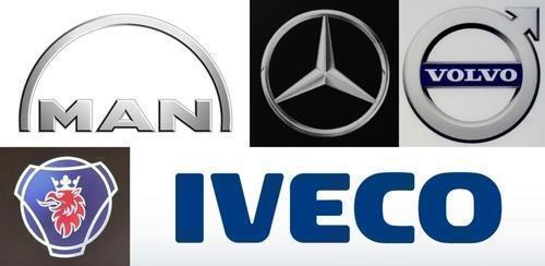 Five major imported commercial vehicle brands -- MAN, Mercedes-Benz, Volvo Trucks, Scania and Iveco (Yonhap)