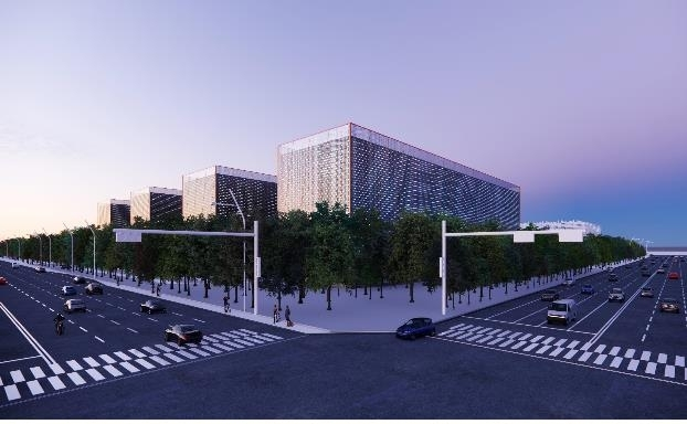 Data center buildings to be built by a SK consortium by 2025 in Saemangeum industrial complex, 280 kilometers southwest of Seoul (Ministry of Transportation)