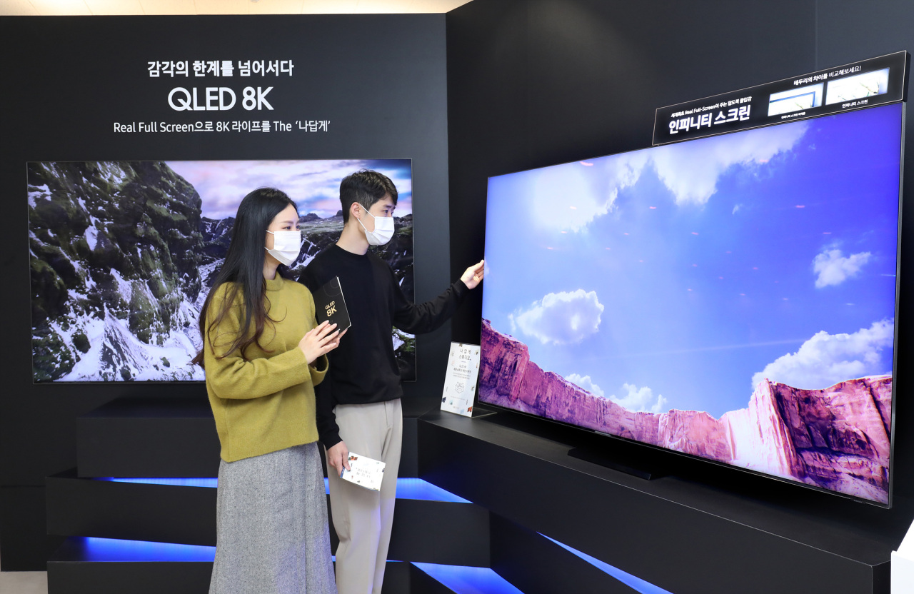 Samsung Electronics marks all-time high TV market share