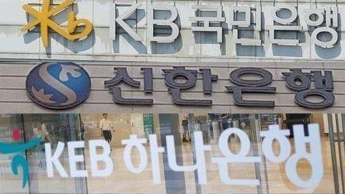 The corporate logos of major banks (Yonhap)