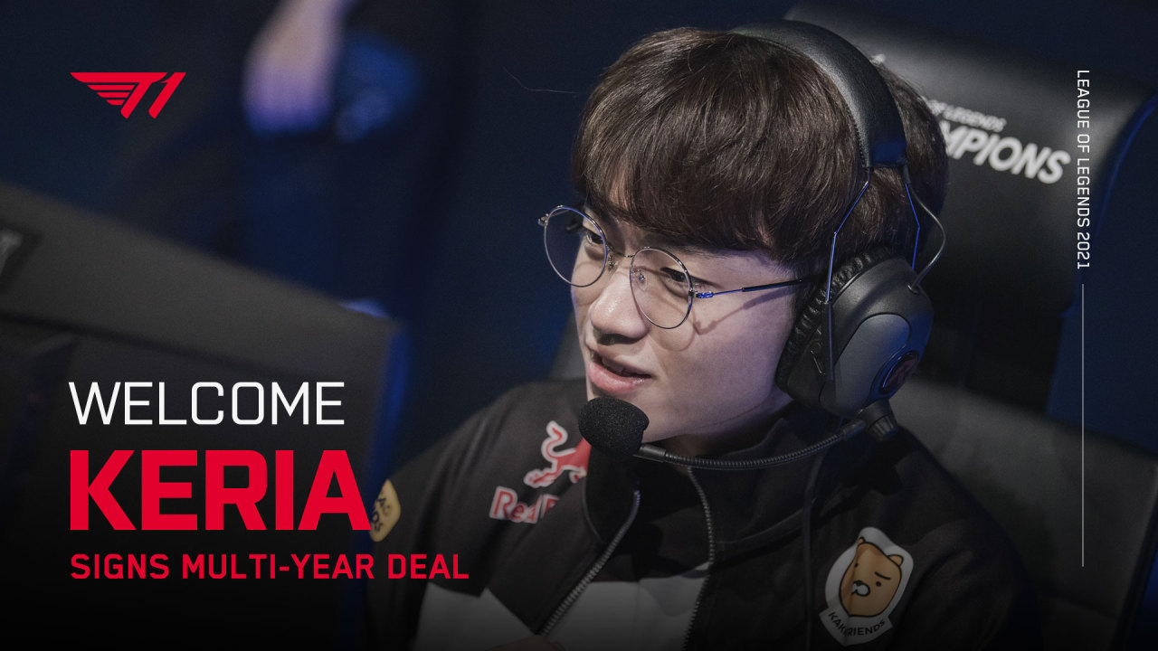 "T1 announces that Ryu ""Keria"" Min-seok will be joining the team in 2021. (Twitter)"