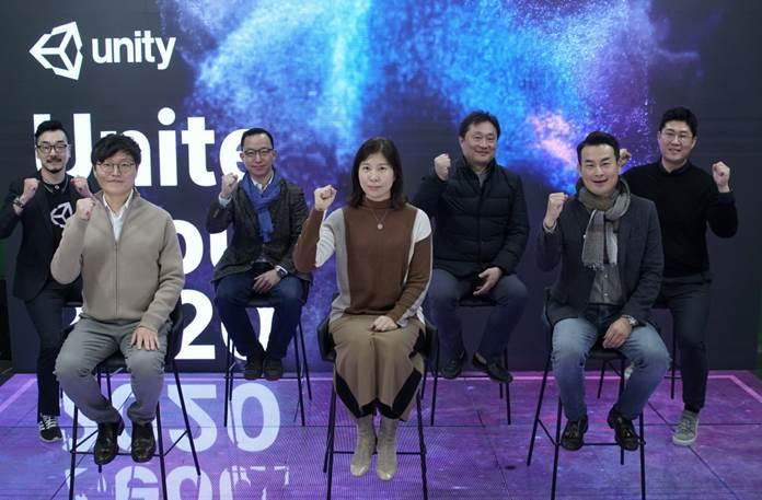 Unity Technologies' Korea Country Head Kim In-suk (front row, center) (Unity Technologies Korea)