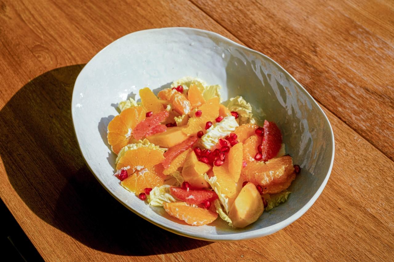 Persimmon citrus salad (Courtesy of Diana Kang)