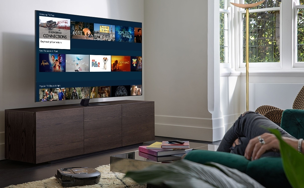 This image provided by Samsung Electronics Co. shows the company's TV streaming platform Tizen. (Samsung Electronics Co.)