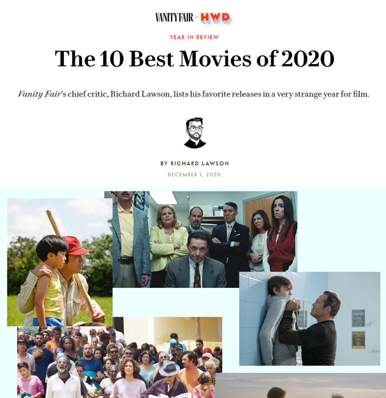 """Minari"" by director Lee Isaac Chung is selected among the ""10 Best Movies of 2020"" by Vanity Fair. (Vanity Fair)"