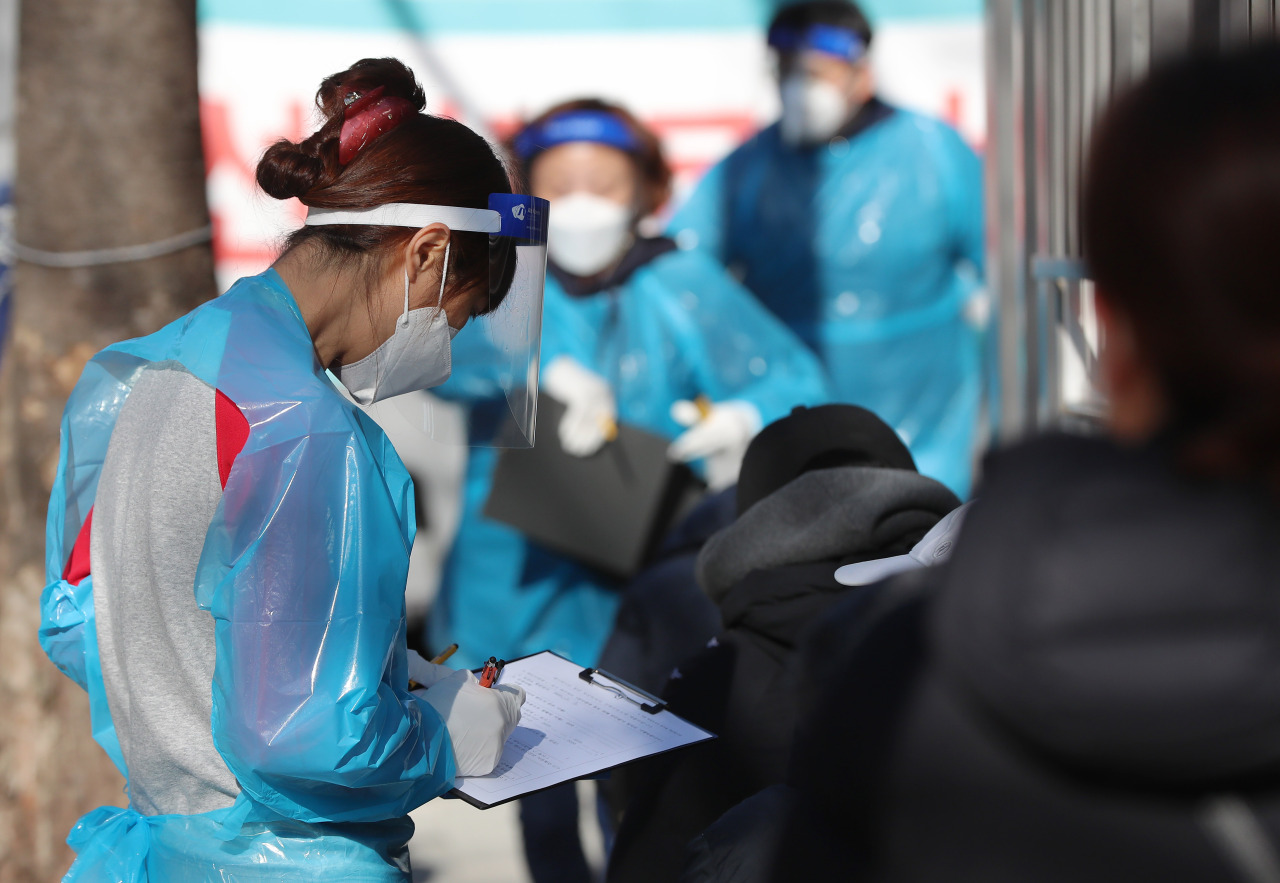 Korea added 583 more COVID-19 cases on Saturday. (Yonhap)