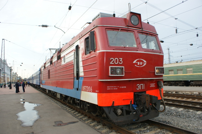 A Trans-Siberian train (KORAIL)