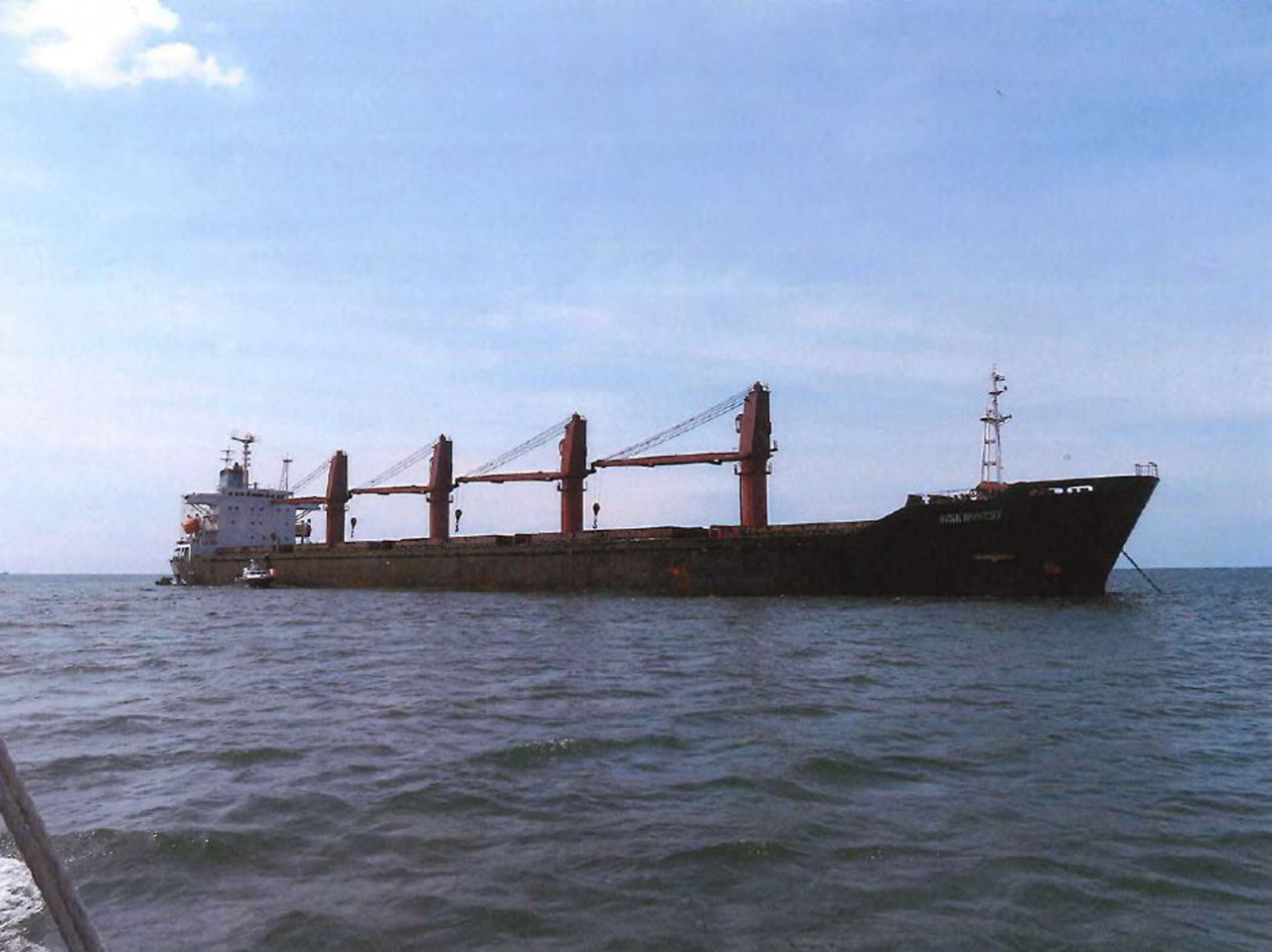 Wise Honest, a North Korean cargo ship allegedly used to export coal in violation of UN and US sanctions on May. 8, 2019. (Website of the US Justice Department)