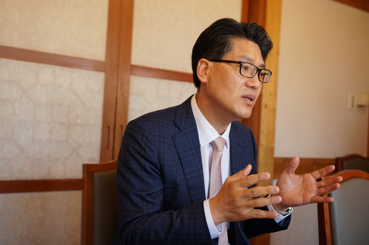 Kim Sang-do, deputy minister for civil aviation, during an interview with The Korea Herald on Tuesday. (The Ministry of Transport)