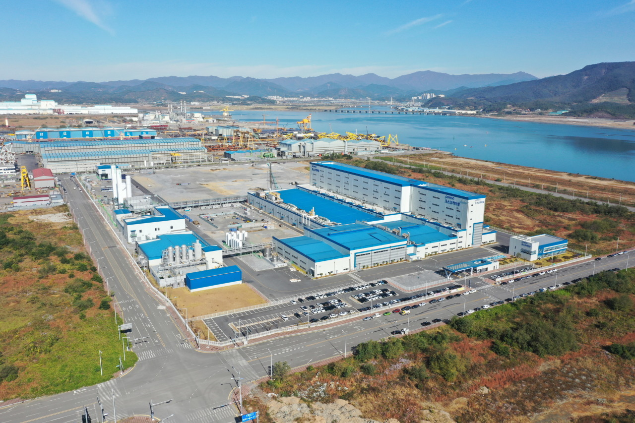 Posco Chemical's cathode plant in Gwangyang, South Jeolla Province (Posco Chemical)