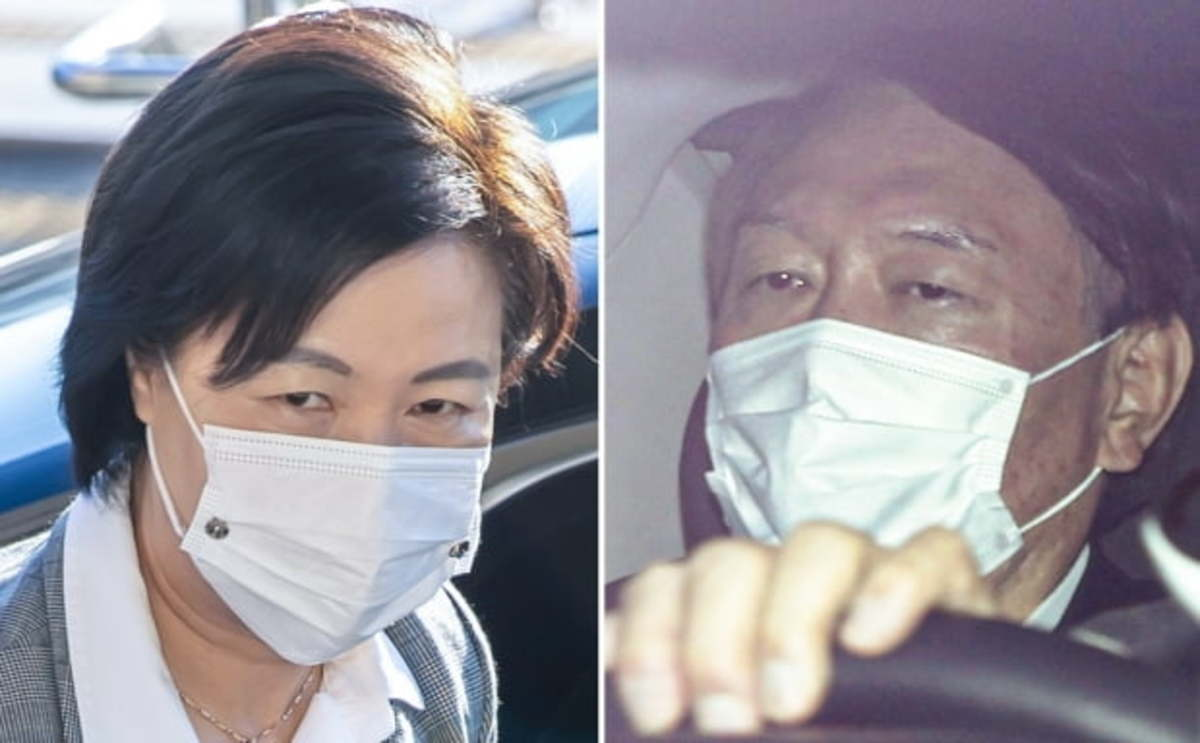 These photos show Justice Minister Choo Mi-ae (L) and Prosecutor General Yoon Seok-youl (R). (Yonhap)
