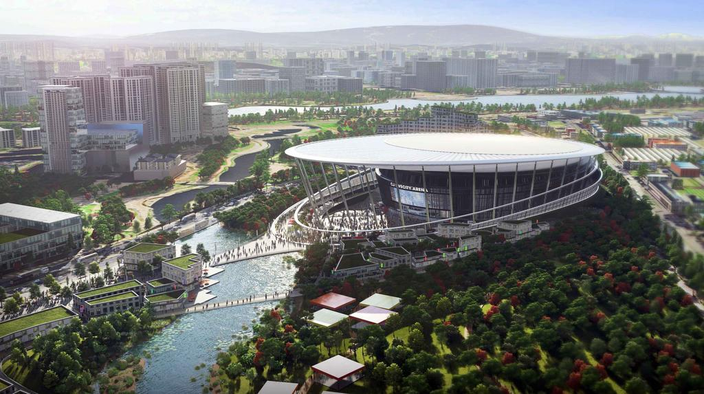 This file photo, provided by CJ LiveCity, shows a rendering of a K-pop concert arena to be built near Seoul by 2023. (CJ LiveCity)