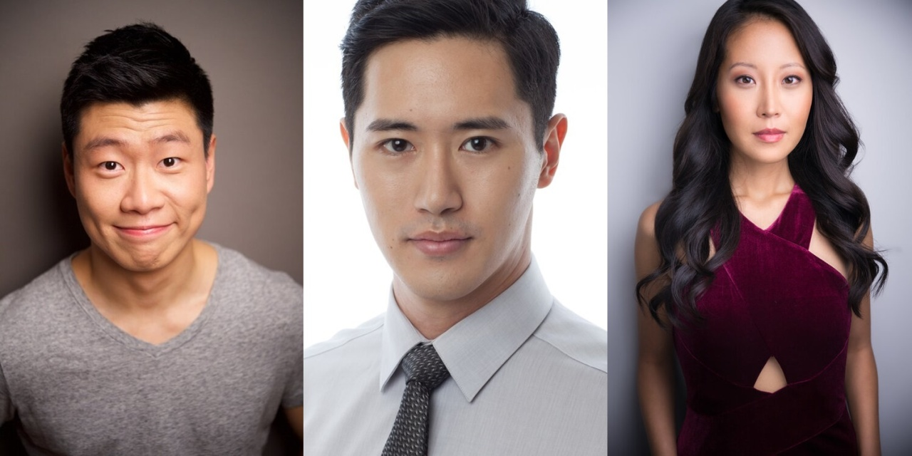 From left: Stage actors Hwang Joo-min, Jung Jin-woo and Lim Q (Korea Culture Center New York)