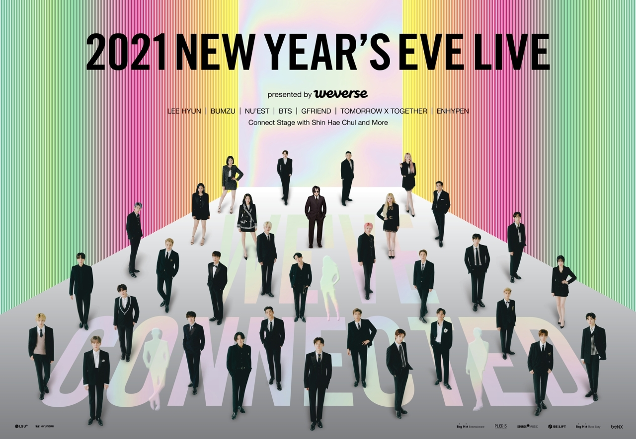 """2012 New Year's Eve Live - presented by Weverse"" poster (Big Hit Labels)"