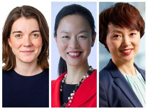 From left: Amy Wilson, Federated Hermes EOS' UK engagement lead (Federated Hermes), Monica Hsiao, Chief Investment Officer of Triada Capital (Triada Capital) and Junjie Watkins, Chief Executive Officer of Pictet Asset Management Asia ex Japan (Pictet Asset Management)