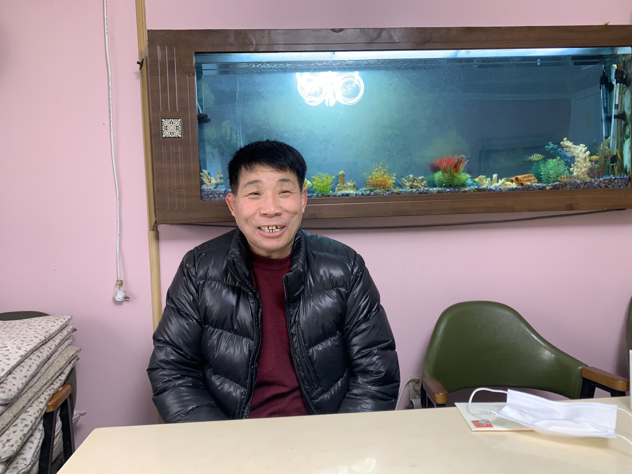 Yun speaks to The Korea Herald at a home for ex-convicts in Cheongju, North Chungcheong Province, Saturday. (Kim Arin/The Korea Herald)