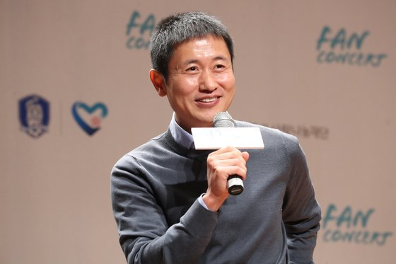 This file photo from Dec. 20, 2019, shows former South Korean football star Lee Young-yo at a charity meet-and-greet hosted by the Korea Football Association's Football-Love Sharing Foundation in Seoul. (Yonhap)