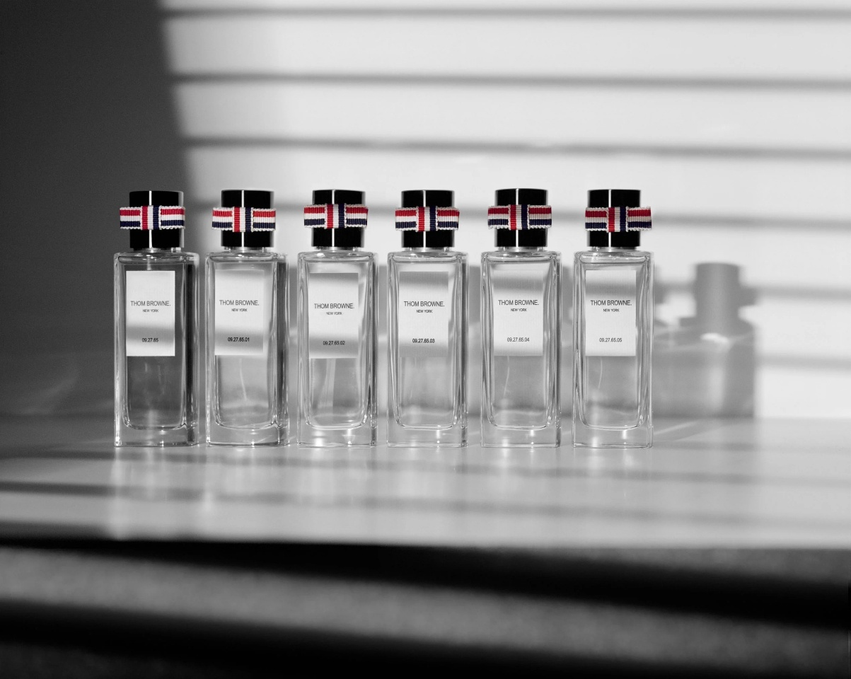 Thom Browne's new fragrance line (Samsung C&T Corp.)