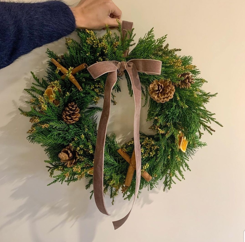 A Christmas wreath by Kim Yu-na (Courtesy of Kim Yu-na)
