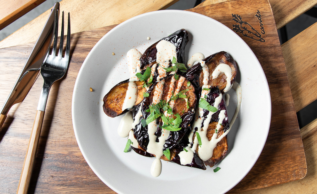 The key to Chick Peace's meaty, tender fried eggplant is the quality of the eggplant itself, says owner-chef We Won-jun. (Chick Peace)