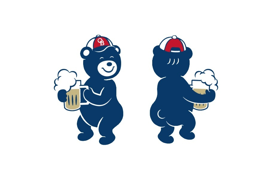Oriental Brewery's mascot character Lala Bear (OB)