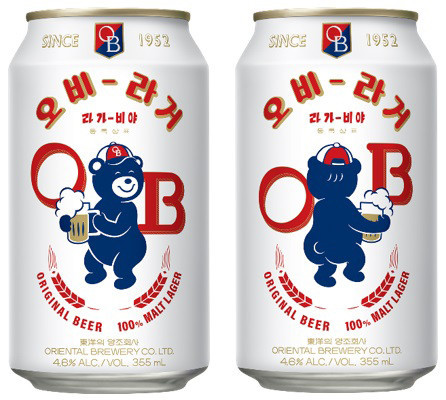 OB Lager featuring Lala Bear on its package (OB)