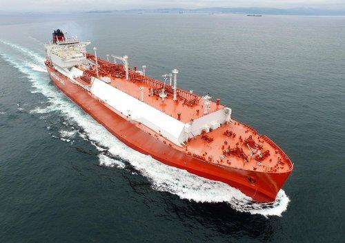 This file photo shows a liquefied natural gas (LNG) ship made by Korea Shipbuilding & Offshore Engineering Co. (Yonhap)