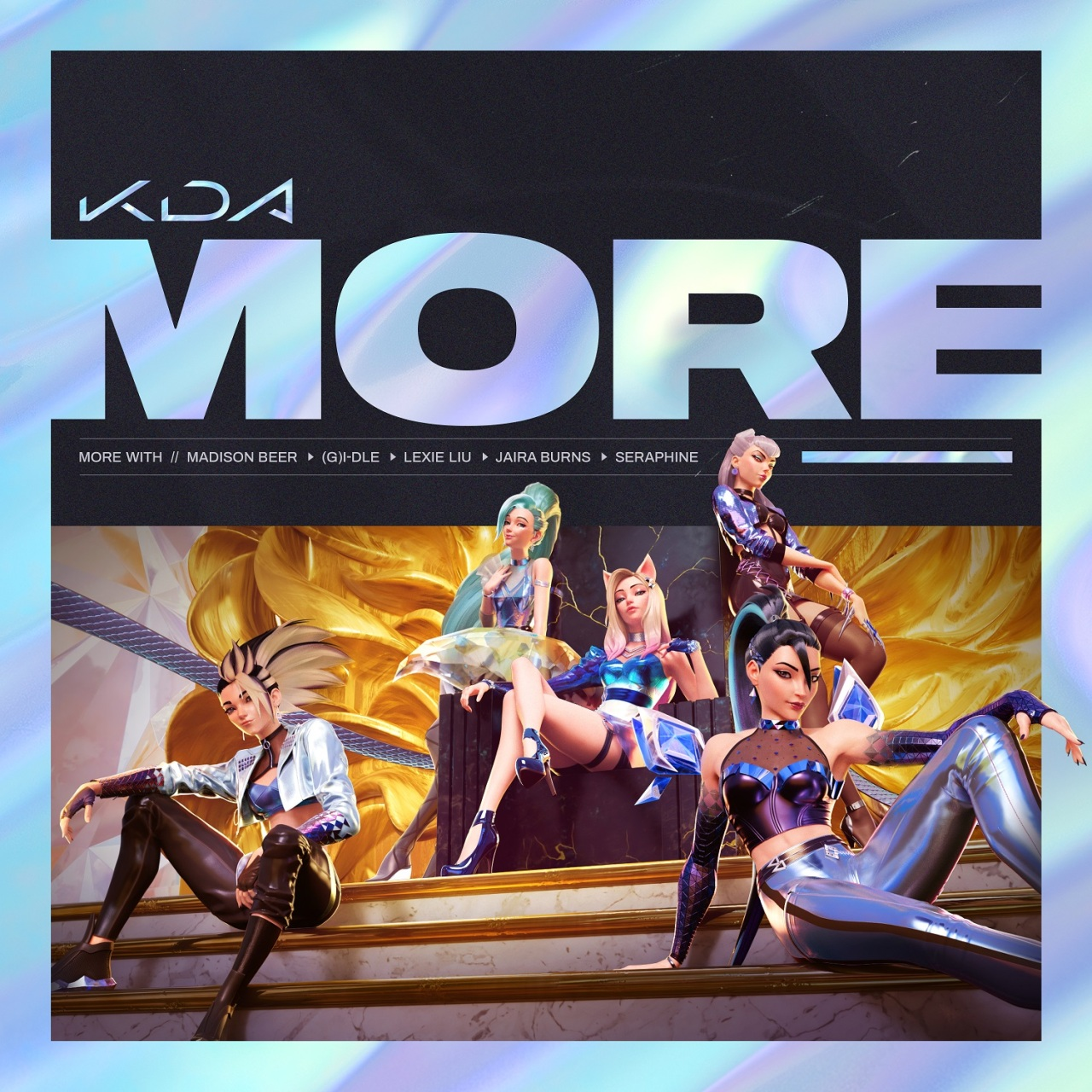"Cover image of K/DA's single ""MORE"" (Riot Games)"