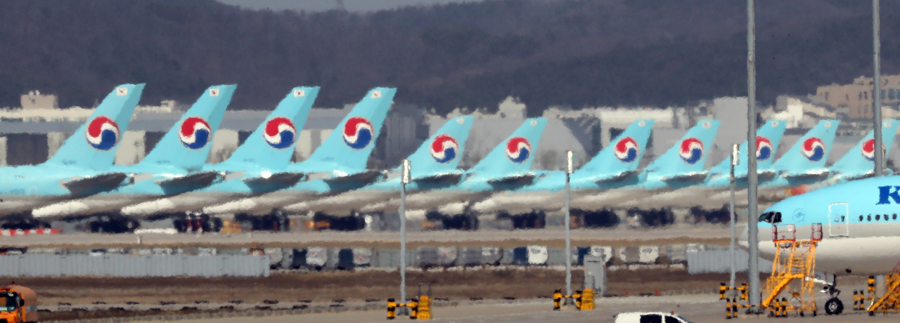 Korean Air aircraft at Incheon International Airport, west of Seoul (Yonhap)