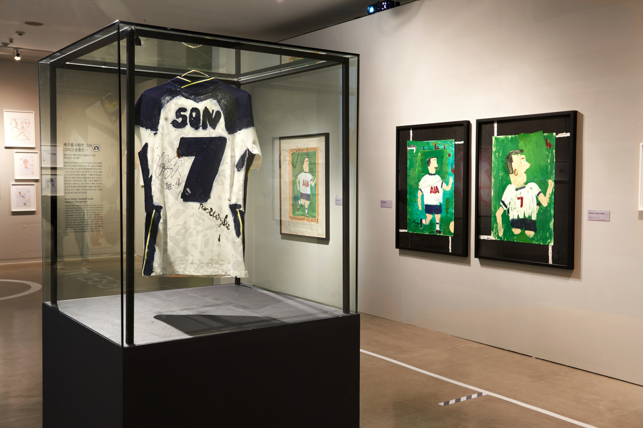 "The ""Hullo Hullo Following on, Rose Wylie"" exhibition's sixth section, ""Rose Wylie, Football Gods, and Son Heung-min"" (UNC)"