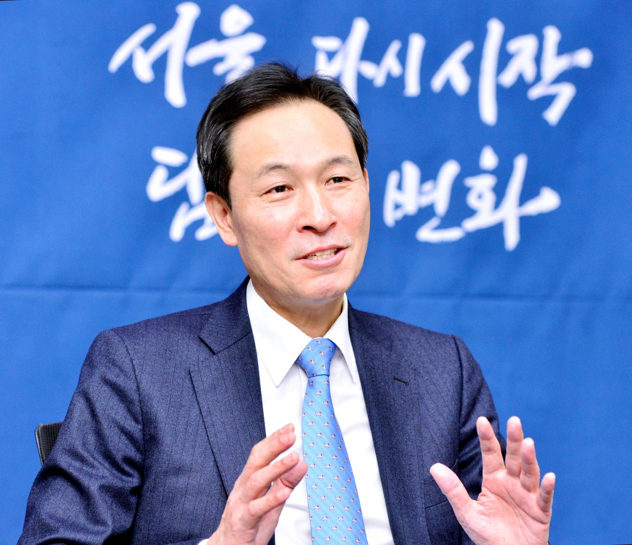 Rep. Woo Sang-ho of the Democratic Party of Korea (Park Hyun-koo/The Korea Herald)