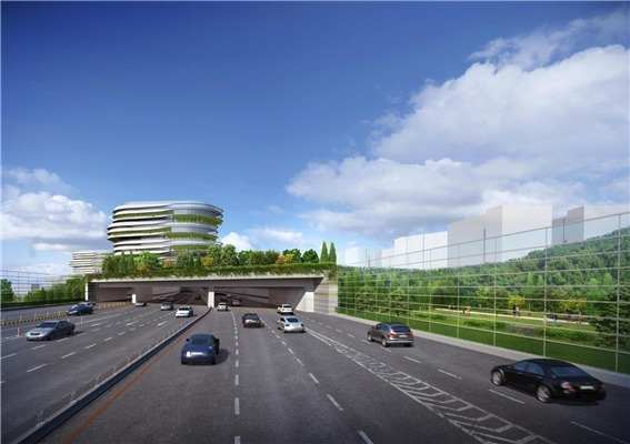 The Seoul Metropolitan Government's envisioned townhouses along the Bukbu Expressway (Seoul Metropolitan Government)
