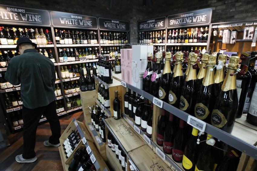 South Korea's wine imports (Yonhap)