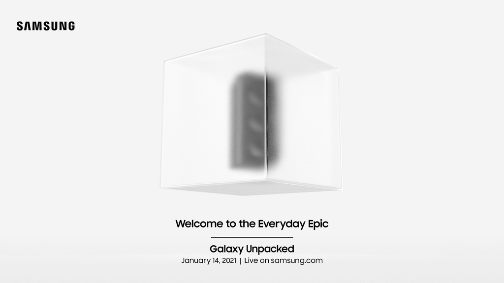 This image provided by Samsung Electronics Co. on Monday, shows the company's invitation to the Galaxy Unpacked event on Jan. 14. (Samsung Electronics Co.)