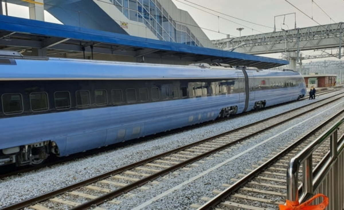 The EMU-260 bullet train developed by South Korea (Yonhap)