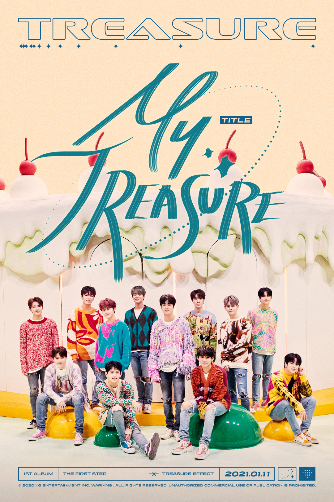 """The First Step: Treasure Effect"" title track ""My Treasure"" poster (YG Entertainment)"