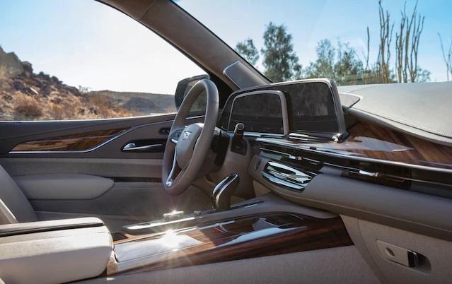 LG Electronics' P-OLED digital cockpit, mounted on the 2021 Cadillac Escalade (LG Electronics)