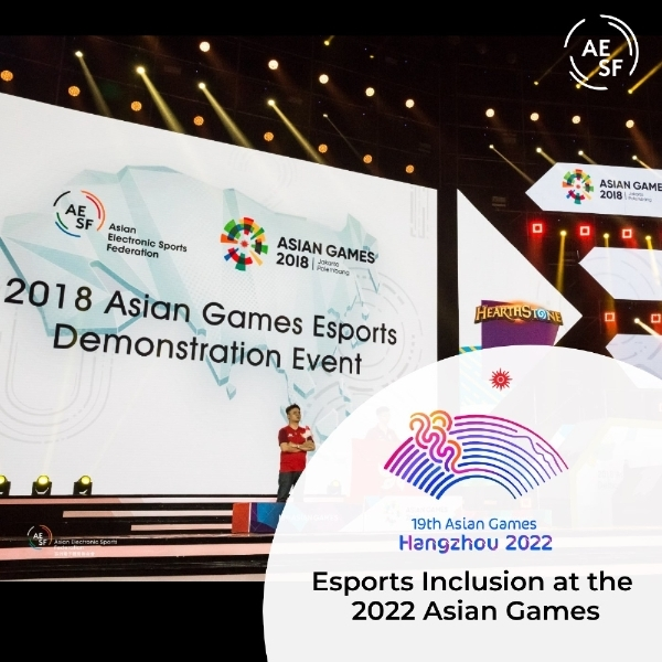 The Asian Electronic Sports Federation announces esports becoming a medal event at the Hangzhou 2022 Asian Games on Dec. 17, 2020. (AESF website)