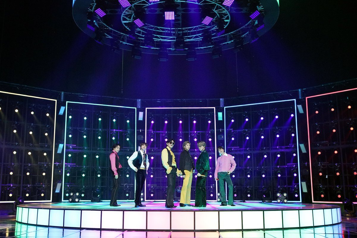 This photo, provided by Big Hit Labels, shows BTS performing
