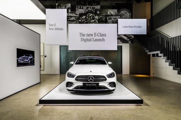 This photo taken on Oct. 13, 2020, and provided by Mercedes-Benz Korea shows the upgraded E-Class sedan. (Mercedes-Benz Korea)
